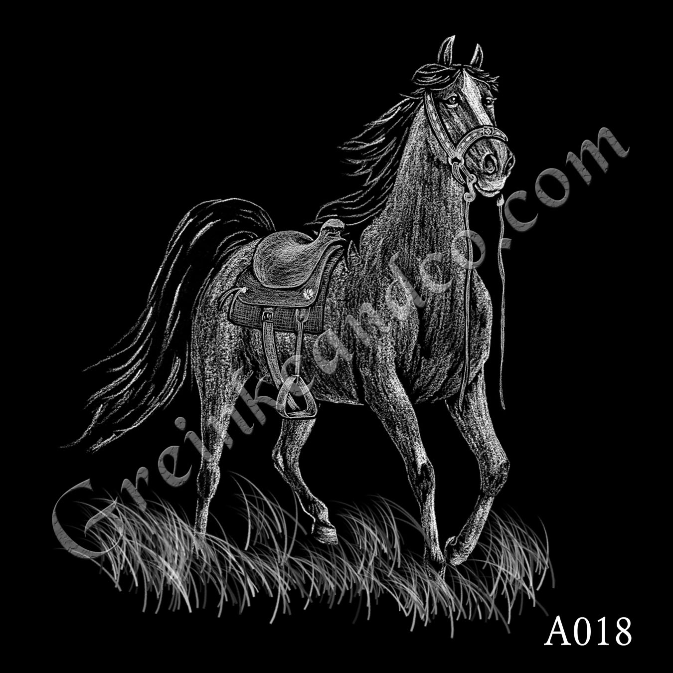A018 - Horse with Bridle