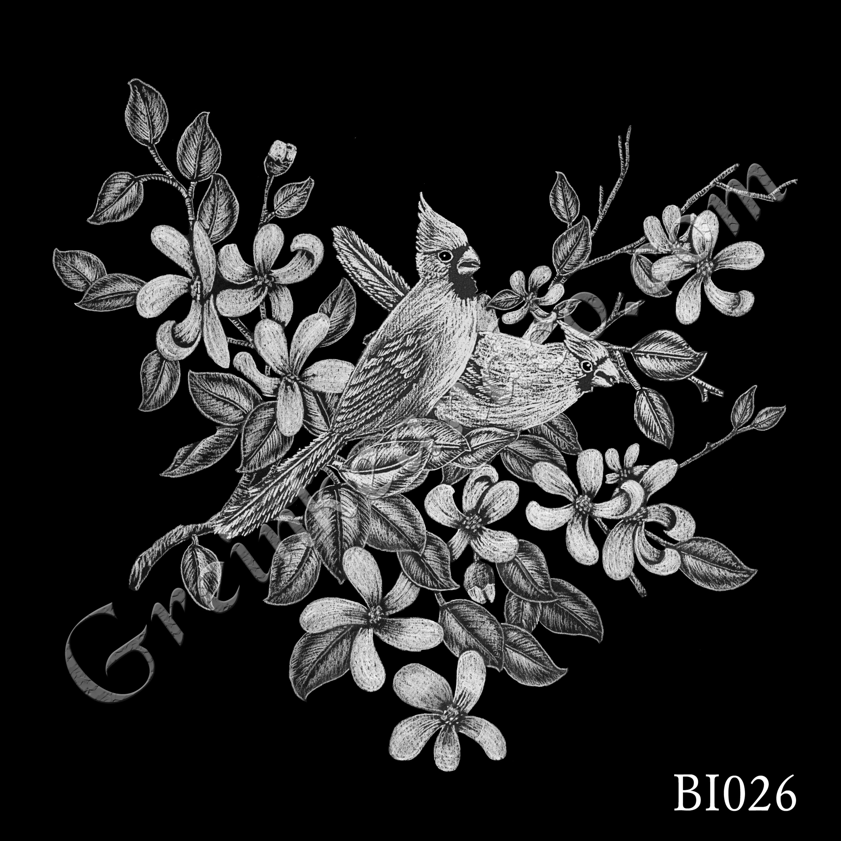 BI026 - Cardinals & Apple Blossoms