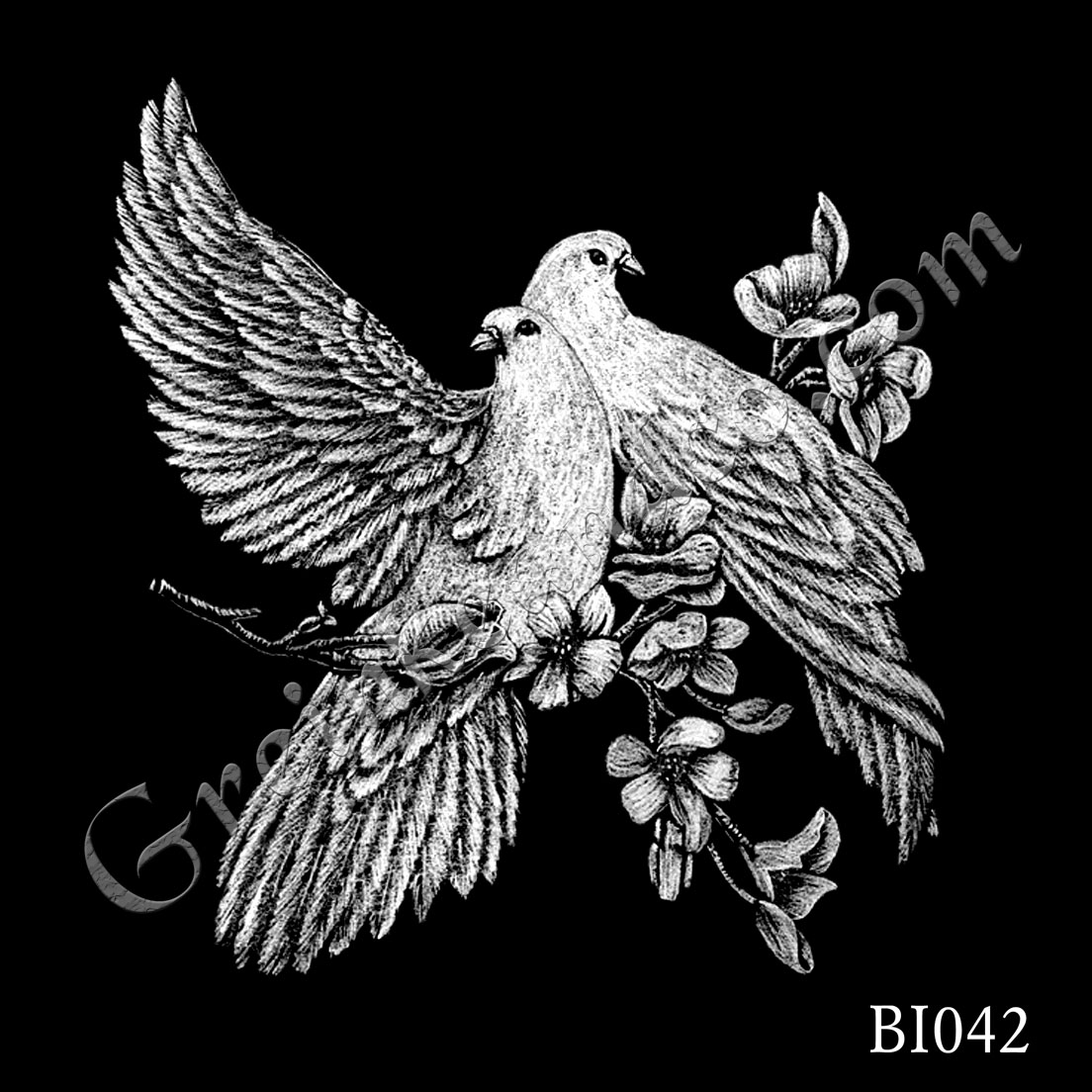 BI042 - Doves on Branch