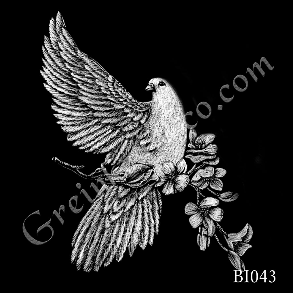 BI043 - One Dove with Branch
