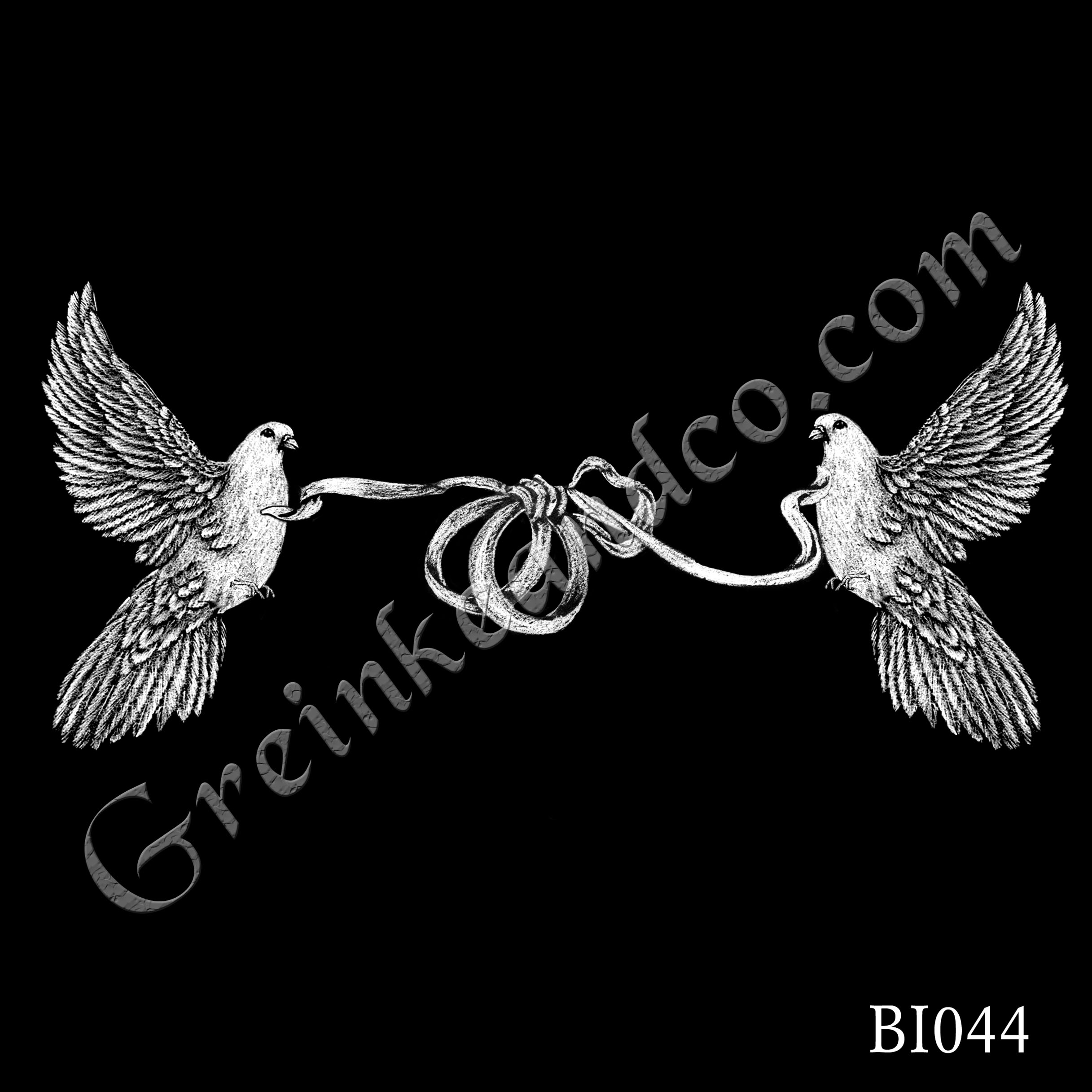 BI044 - Doves & Wedding Rings