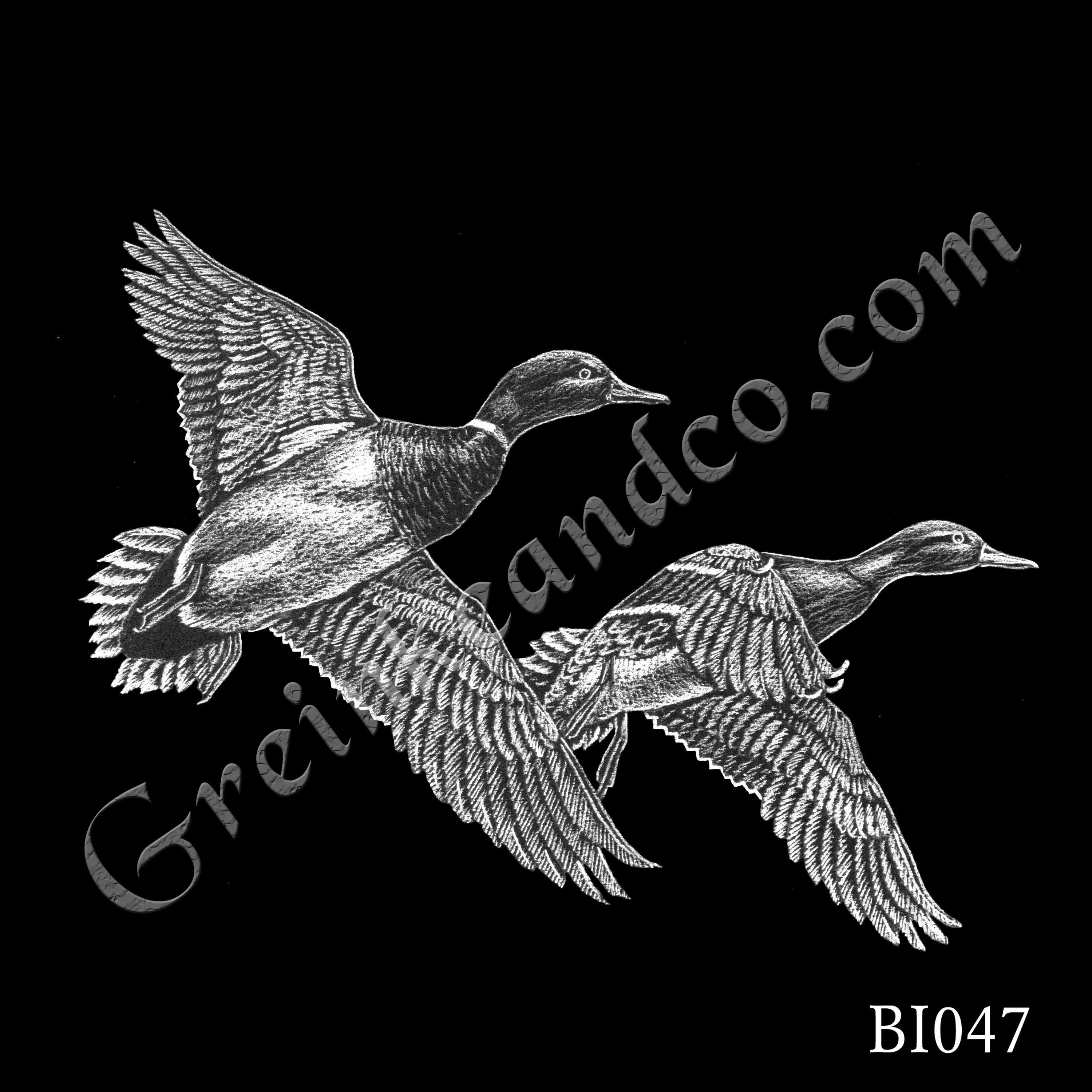 BI047 - Two Flying Mallards