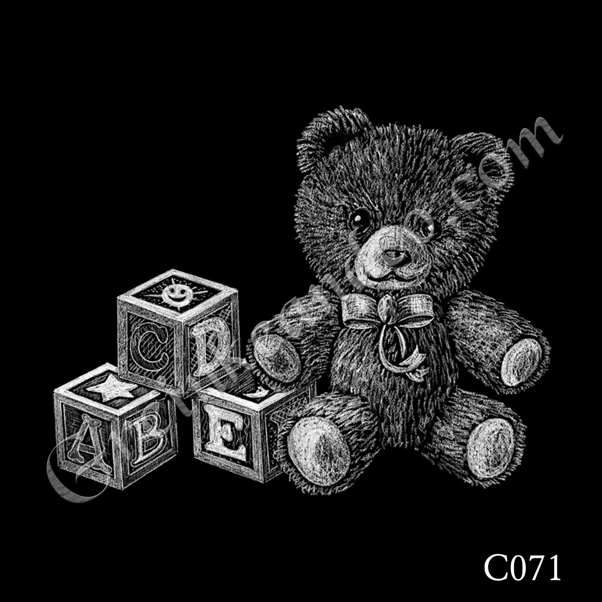 C071 - Teddy Bear with Blocks