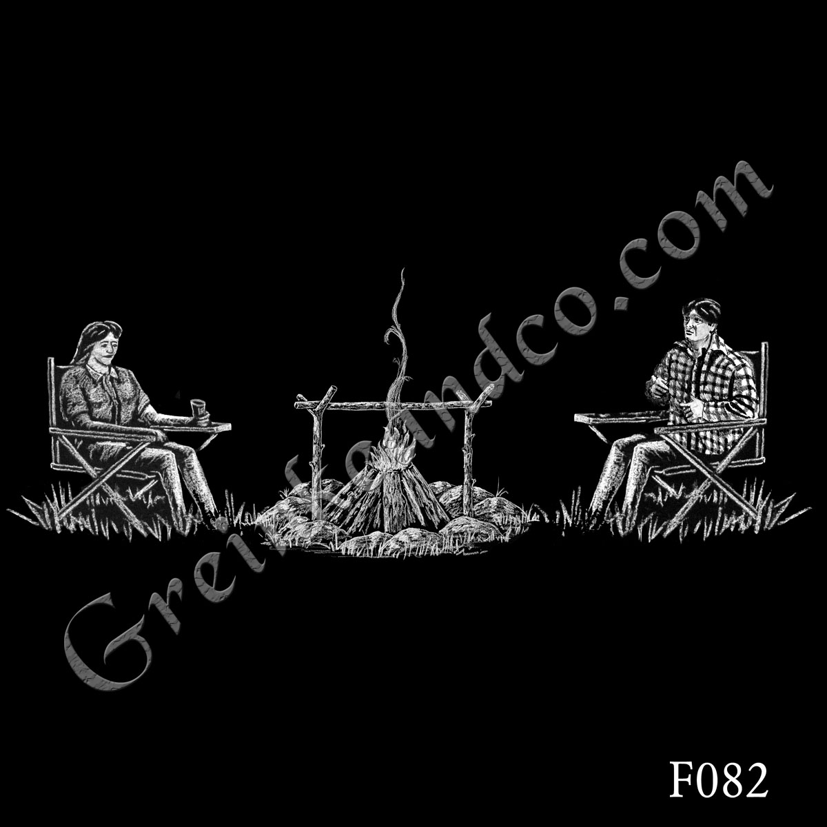 F082 - Camping Couple
