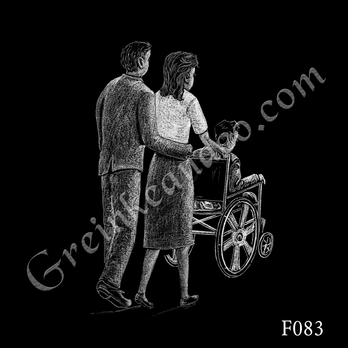F083 - Couple Wheelchair