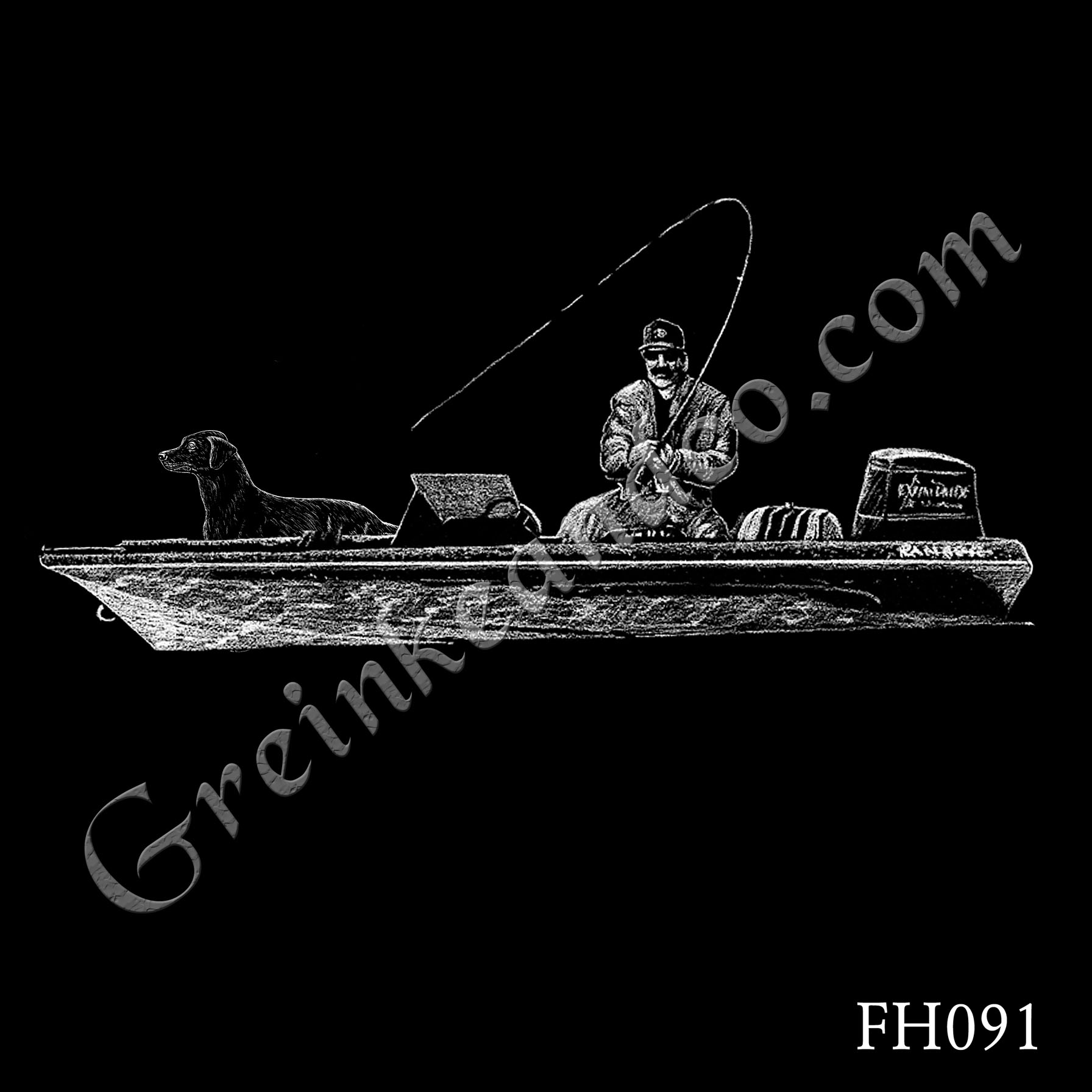 FH091 - Fisherman Boat Dog