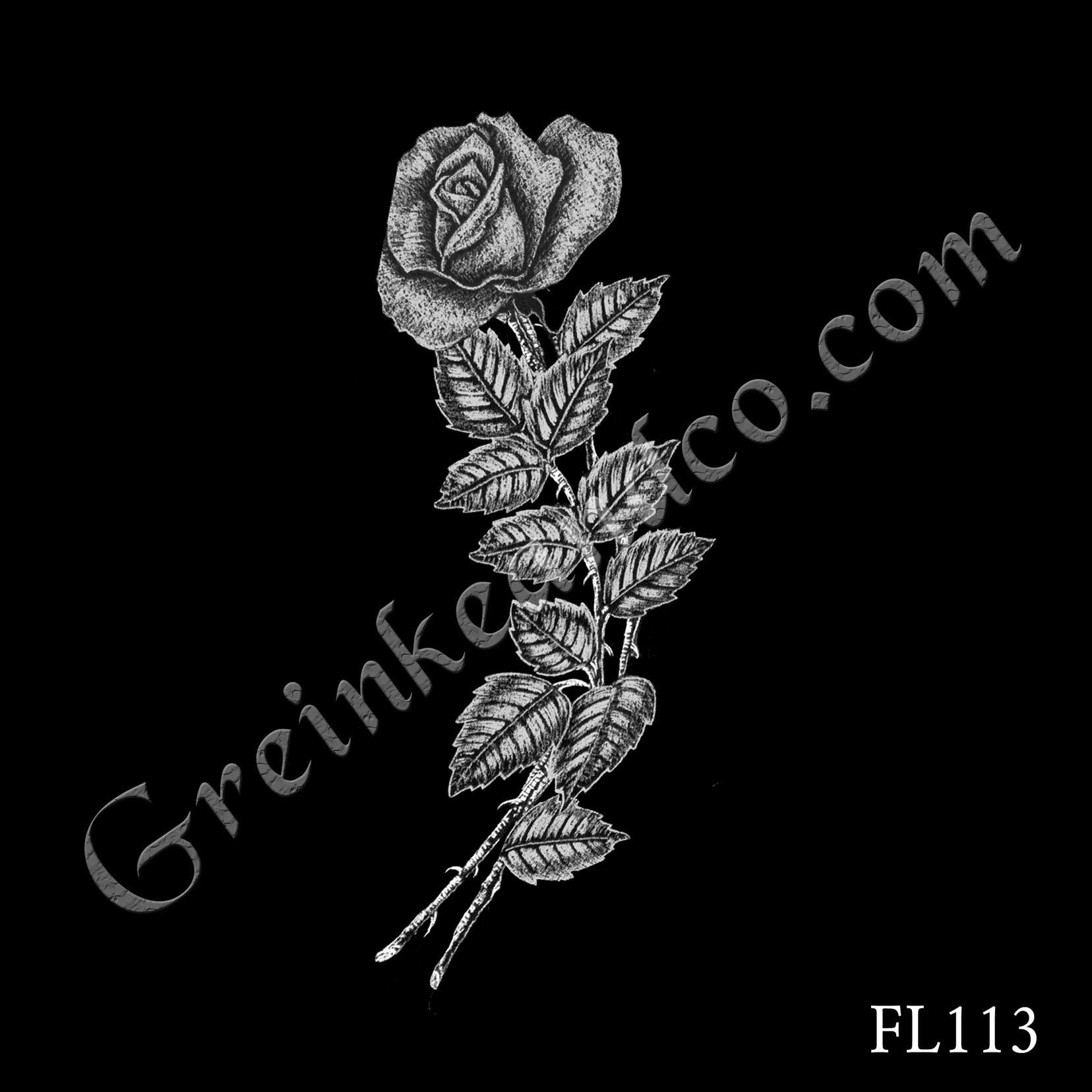 FL113 - Rose with Double Stem