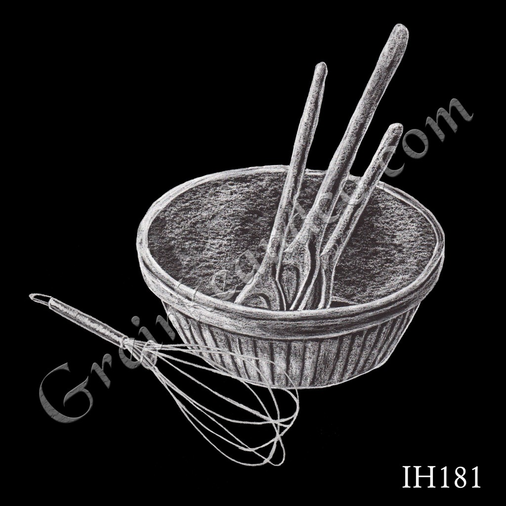 Bowl Spoons and Wisk