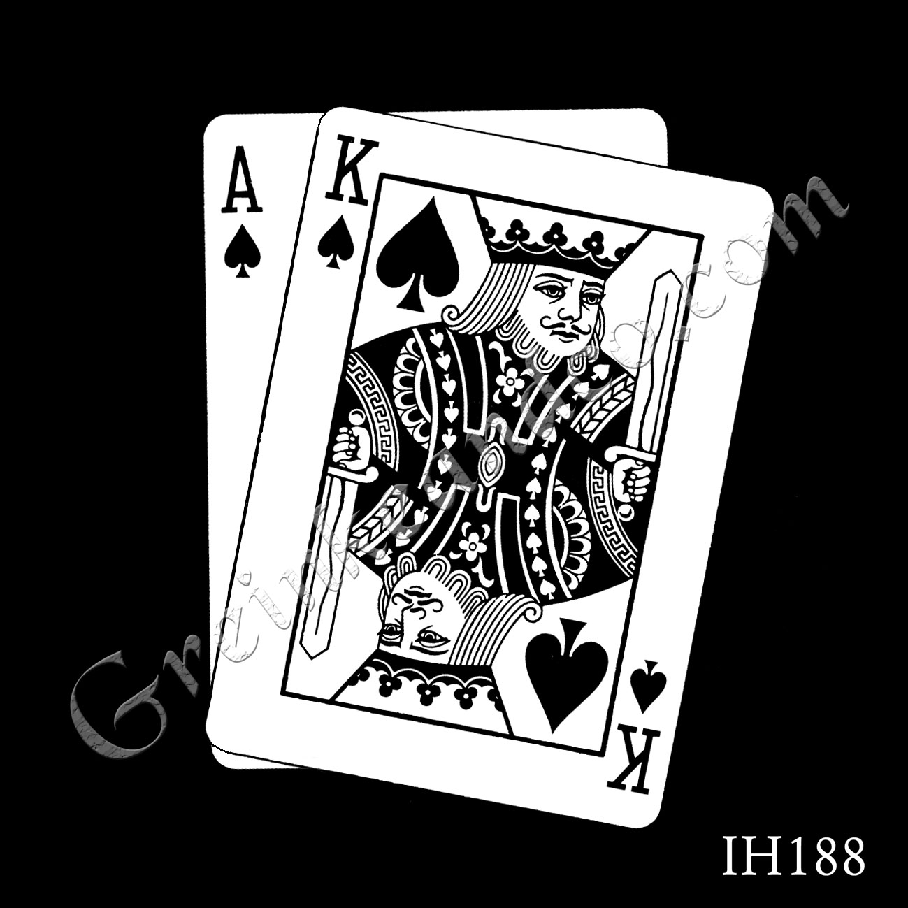 ace and king of spades cards