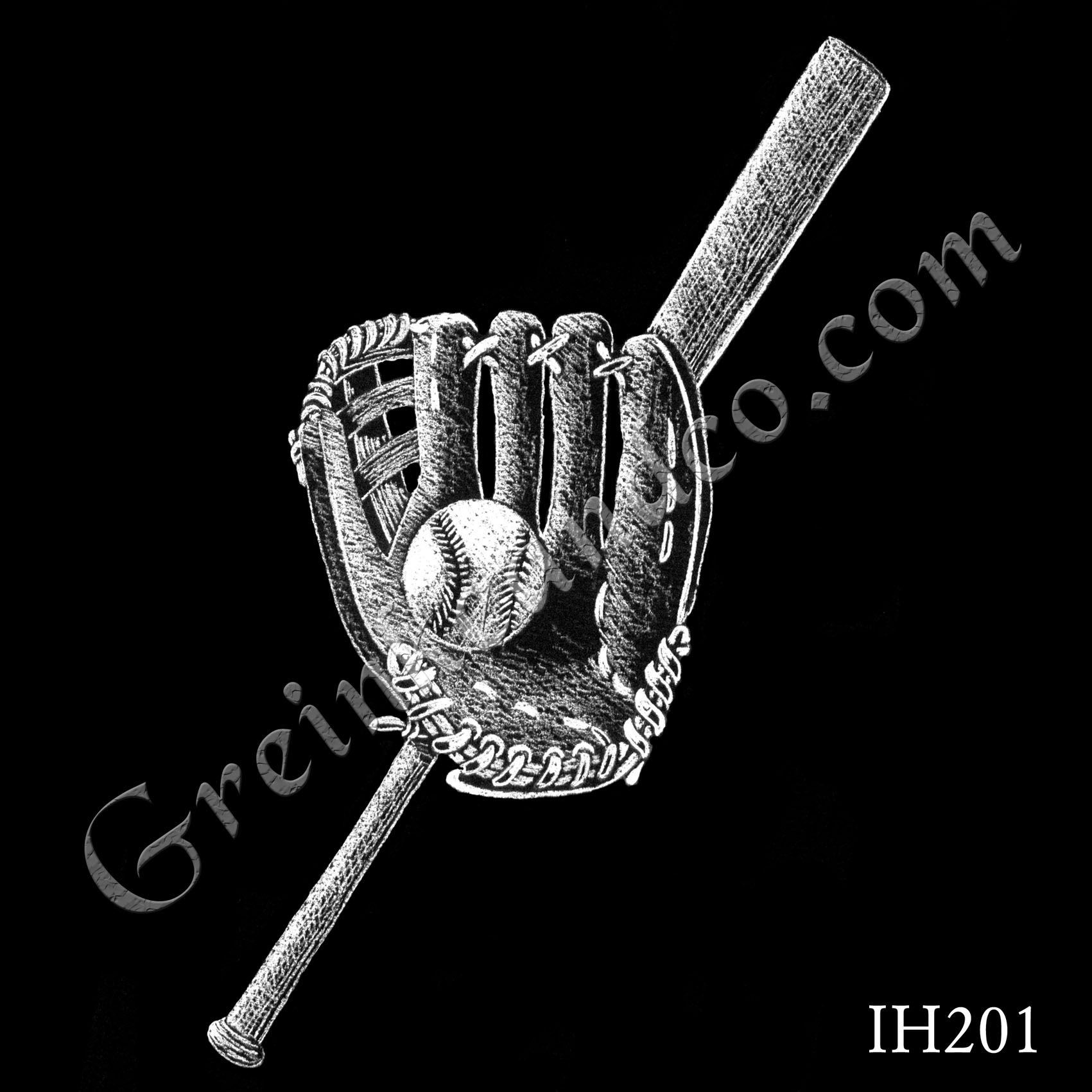 baseball bat, ball, and glove