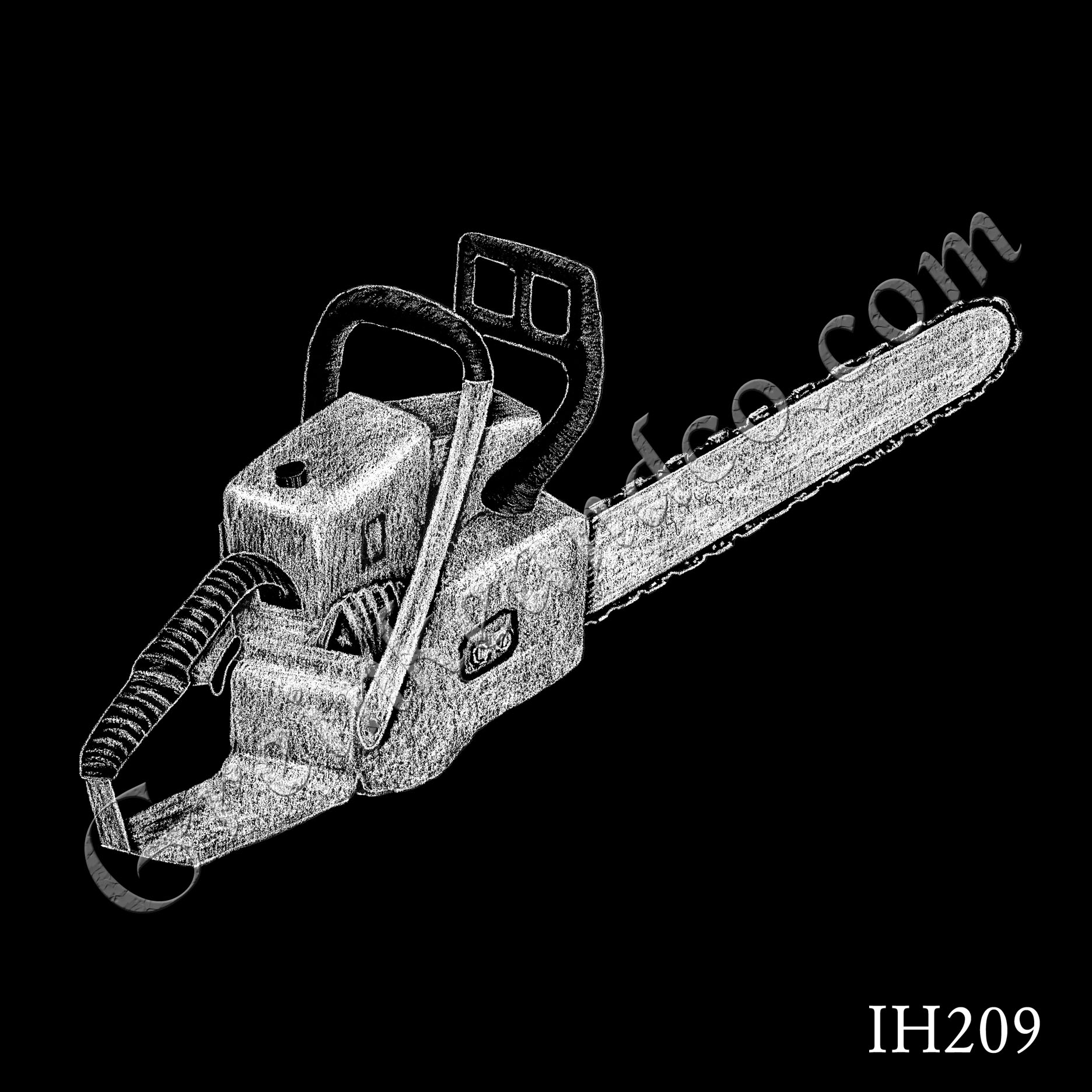 chainsaw drawing