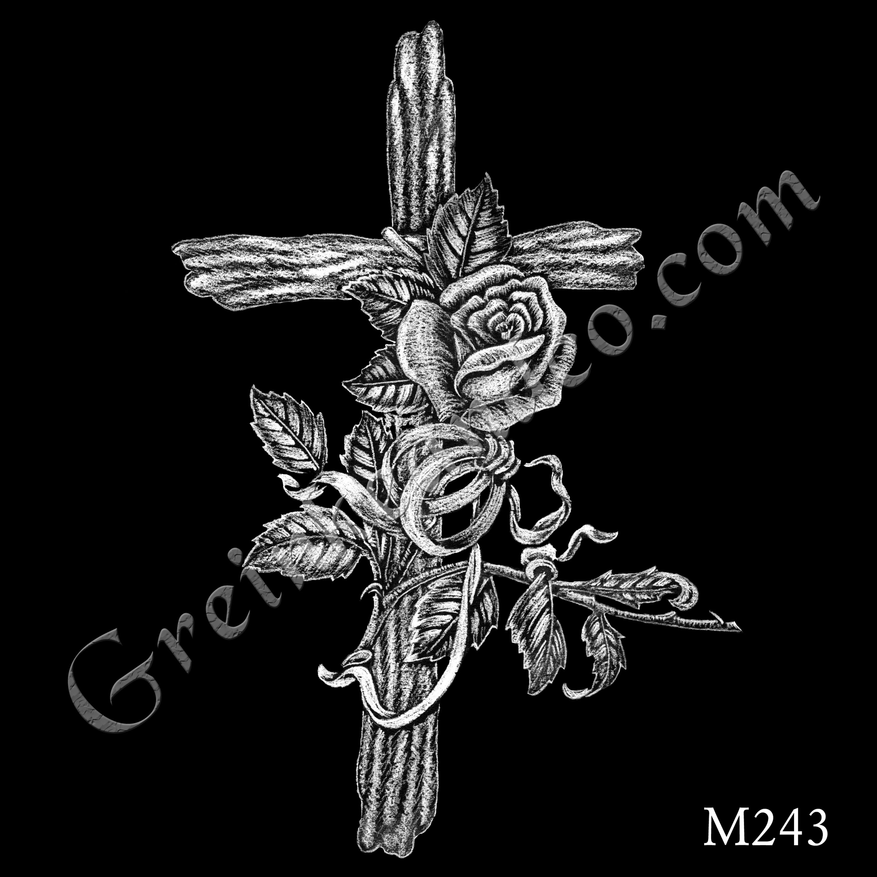 M243 - Cross, Rose, Rings B