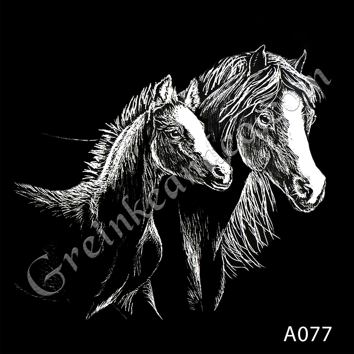 A077 Mare & Foal