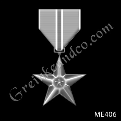 This decoration authorized by Executive Order No. 9419 on February 4, 1944, is awarded a person in any branch of the military service who, while serving in any capacity with the Armed Forces of the United States on or after December 7, 1941, shall have distinguished himself by heroic or meritorious achievement or service, not involving participation in aerial flight, in connection with military operations against an armed enemy. Illustration by Virginia Reyes of the Air Force News Agency. This image is 4x6 inches @200 ppi.