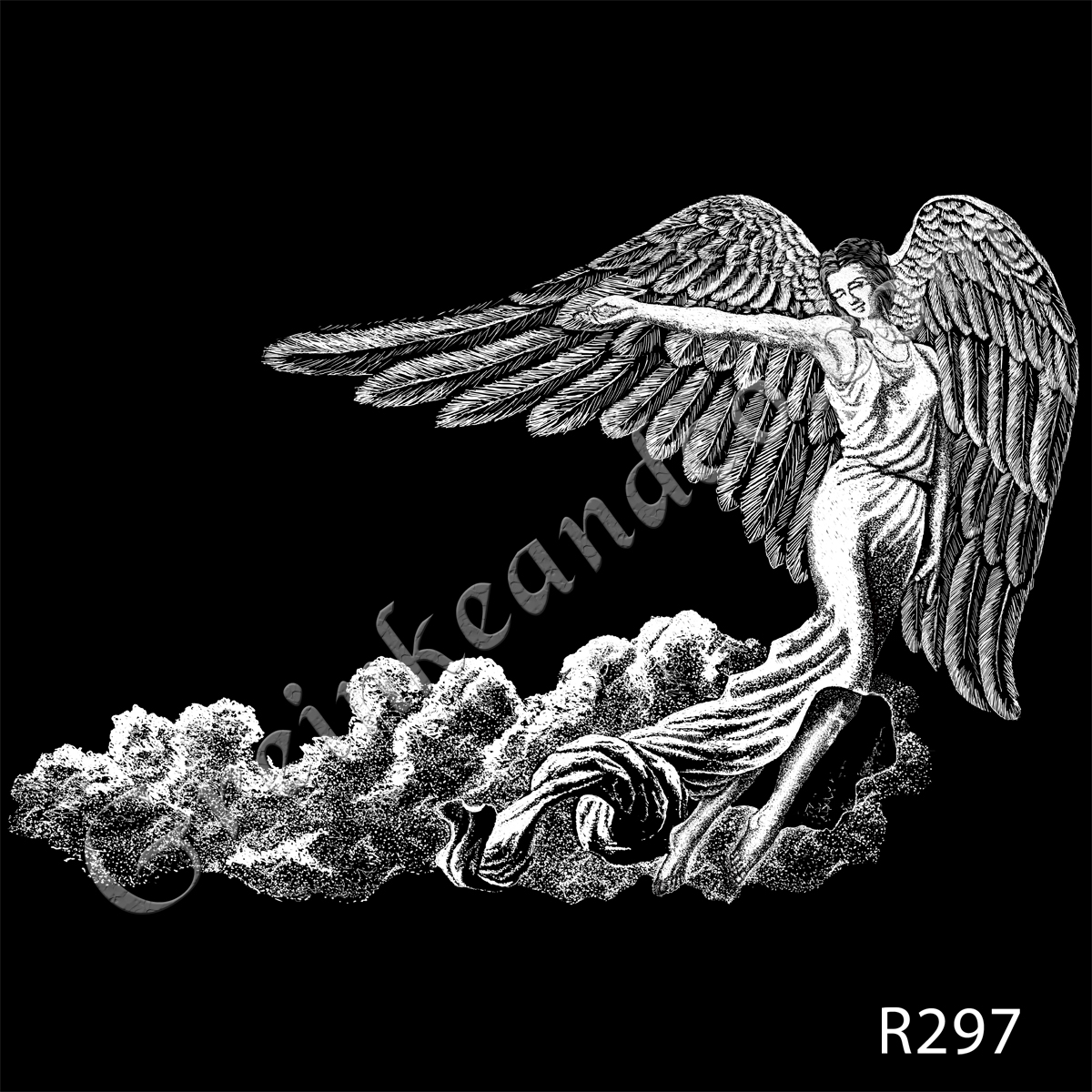 R297 - Angel in Clouds