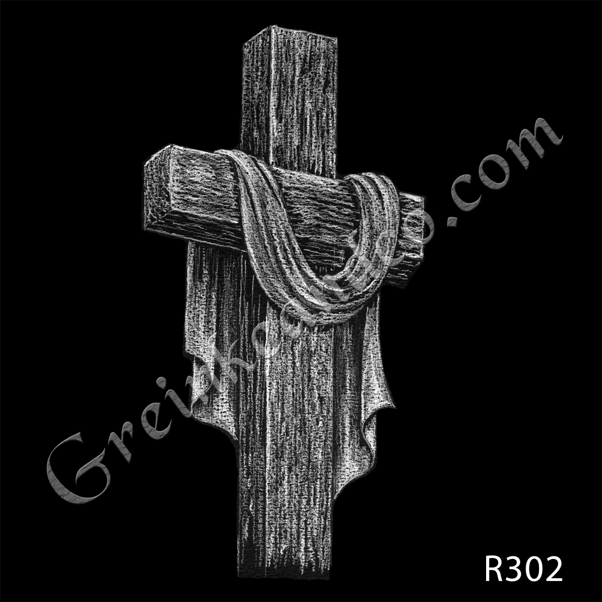 R302 - Cross with Drapes
