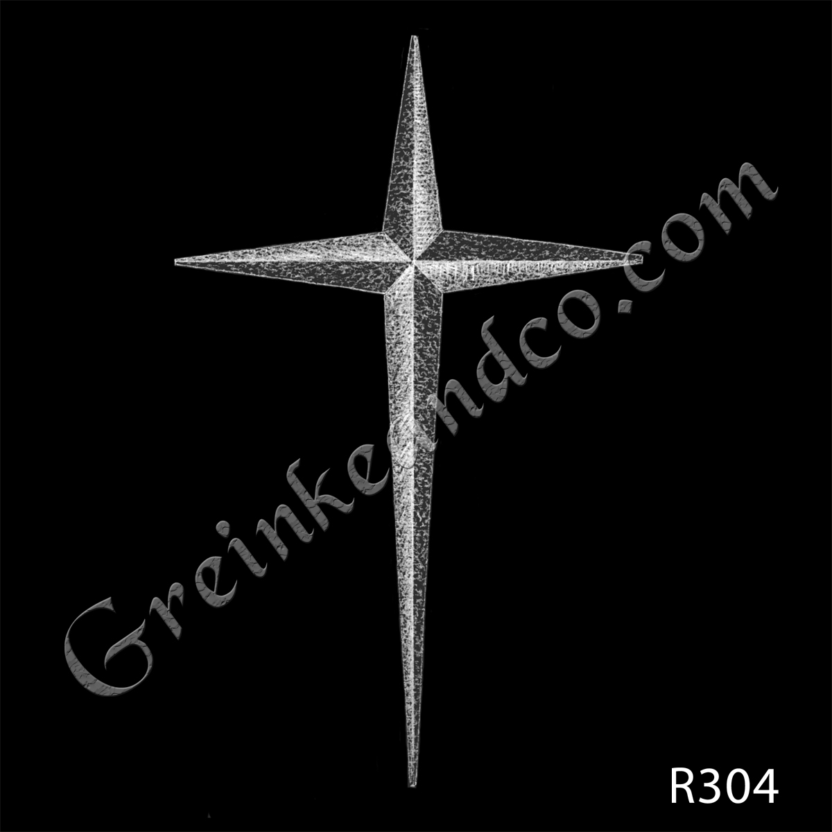 Pointed cross drawing