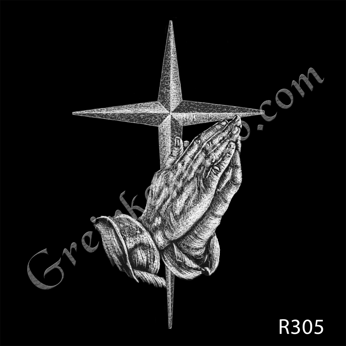 R305 - Hands with Cross