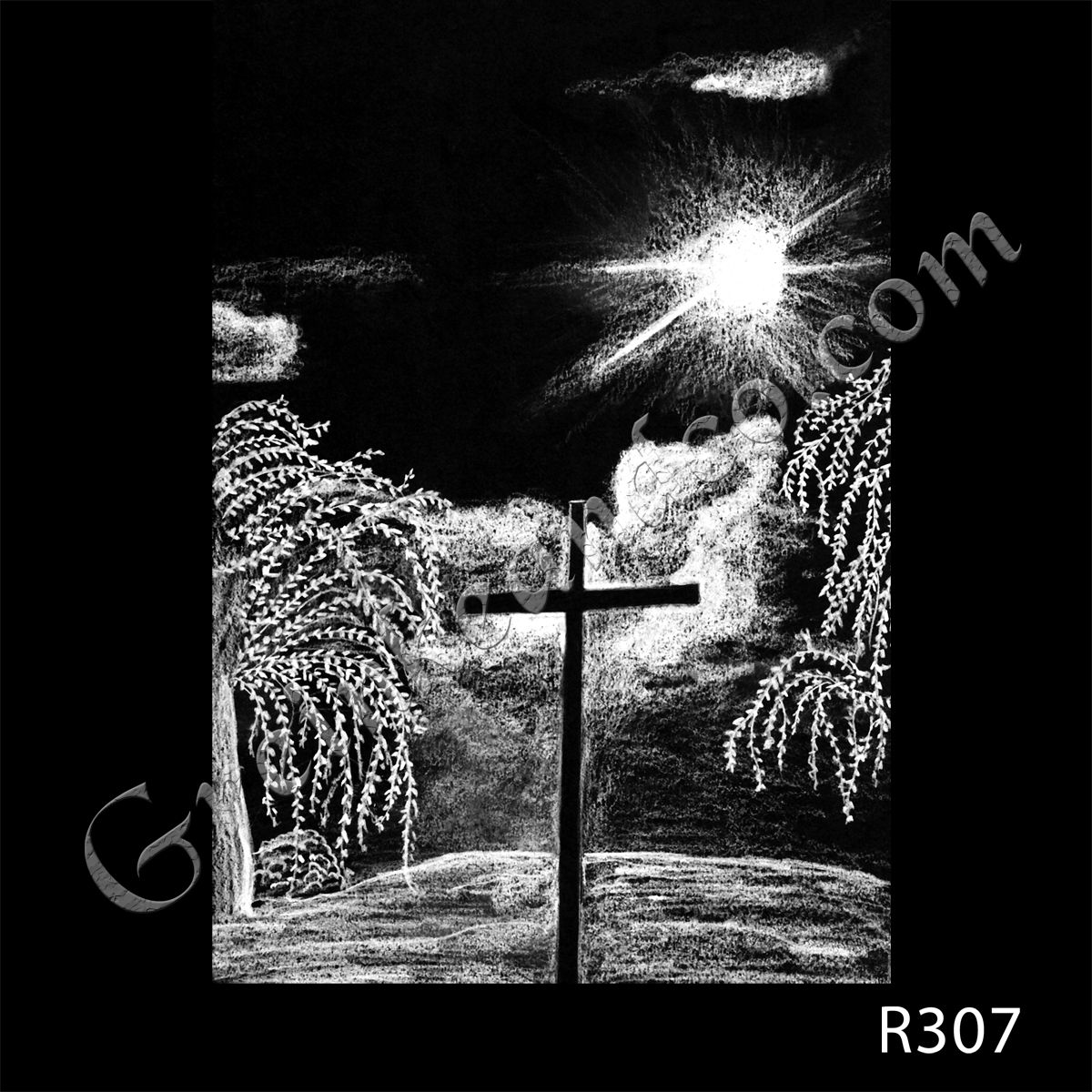 R307 - Cross with Sunburst