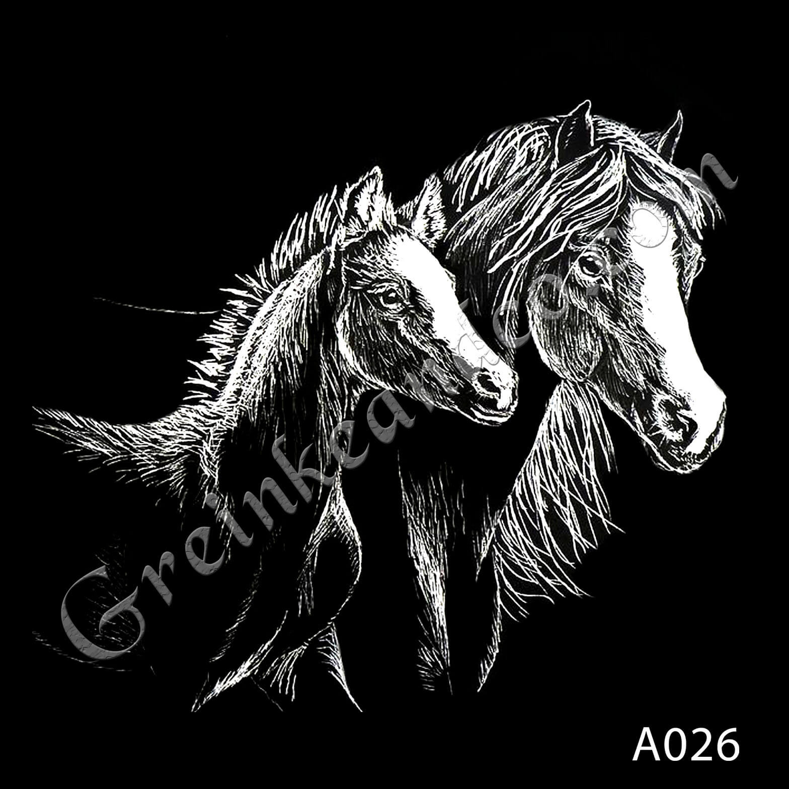 A026 - Mare and Foal