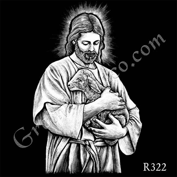 R322 - Jesus and Lamb