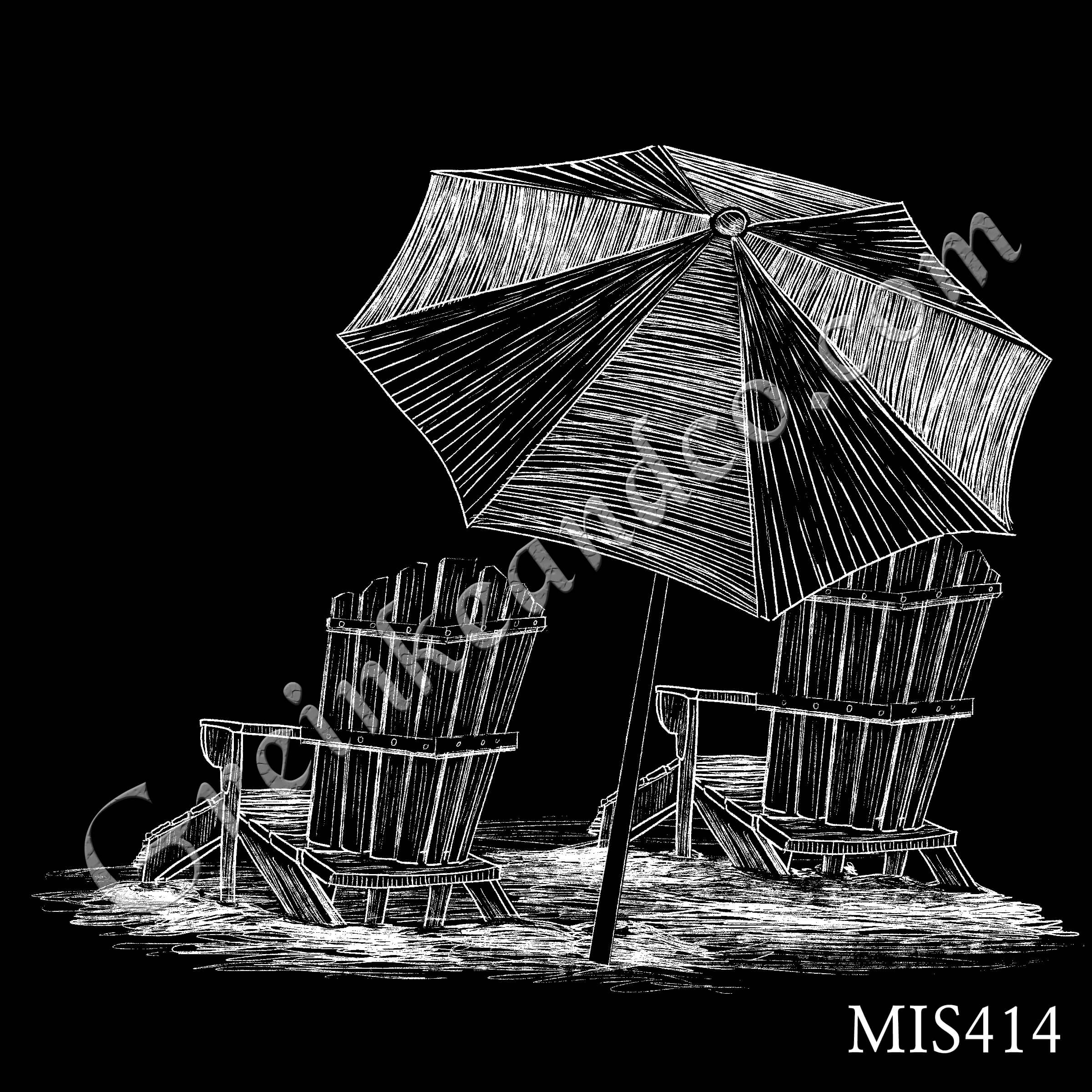 MIS414 - Umbrella and Chairs