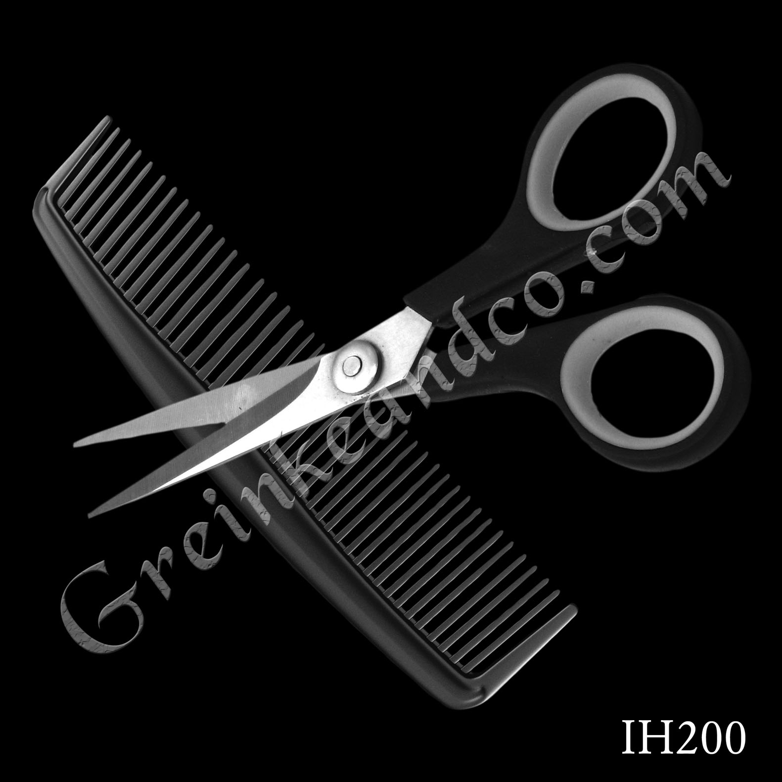 haircutting barber scissors and comb