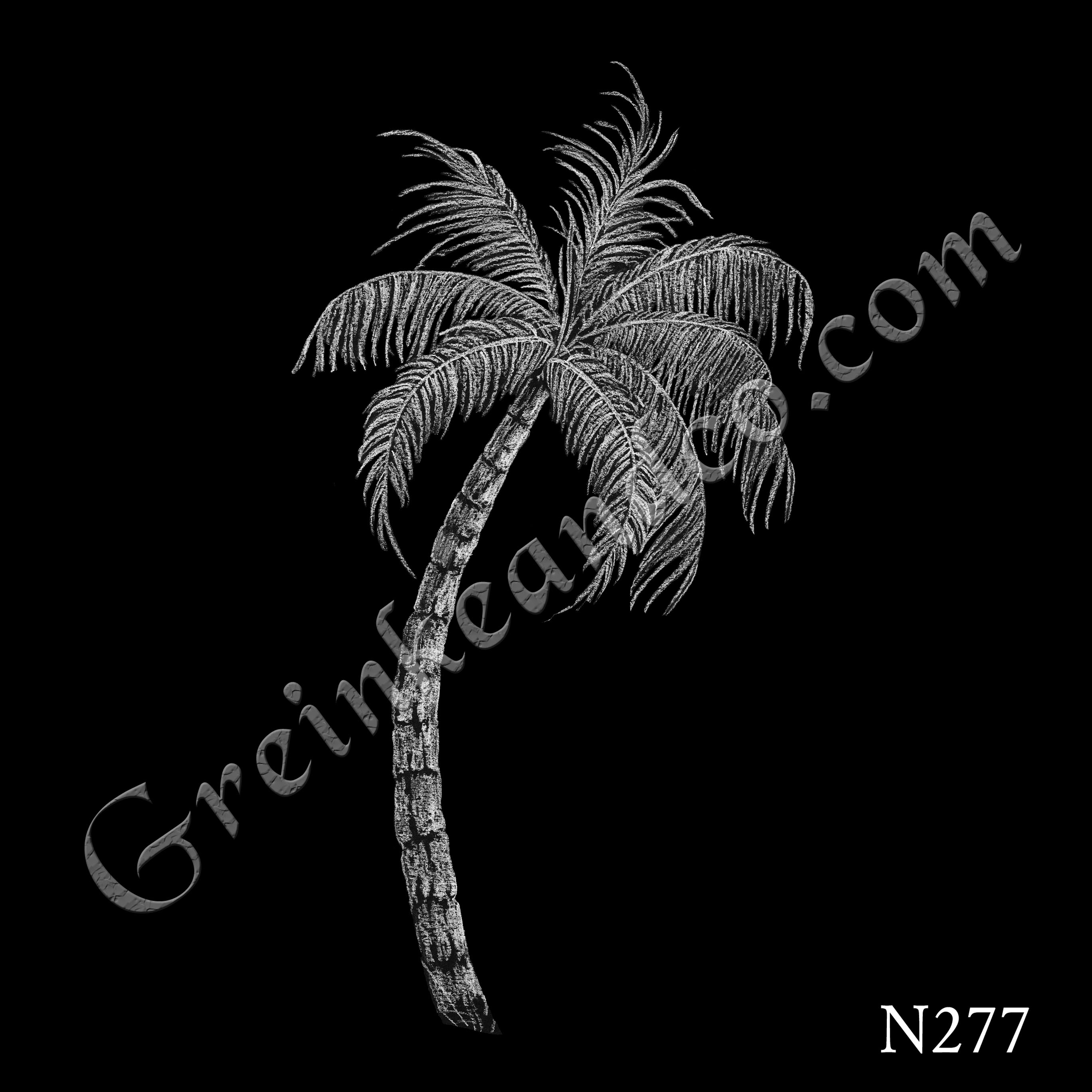 single palm tree drawing