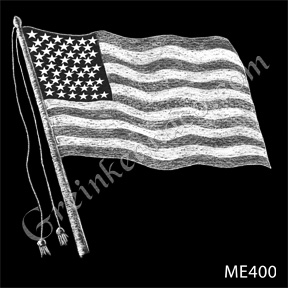 american flag drawing