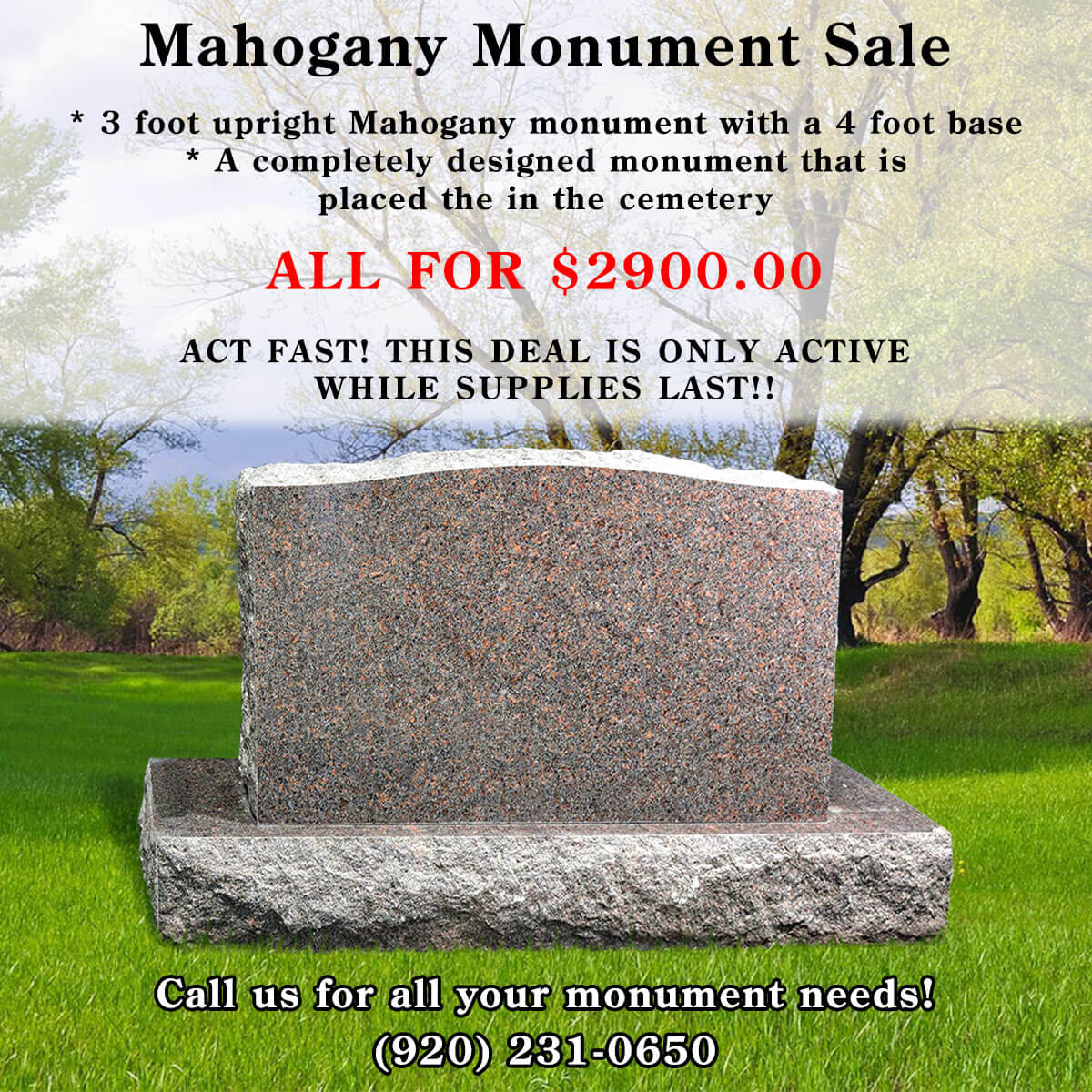 Save big on our Mahogany Sale!